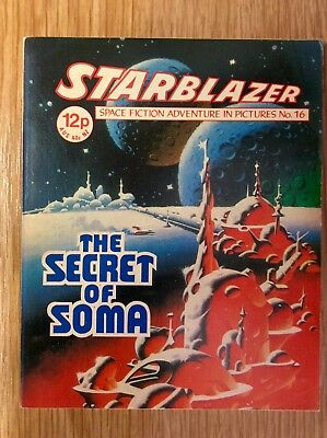 Starblazer: Issue no 16  -  UK Science Fiction Comic  -  Excellent Condition