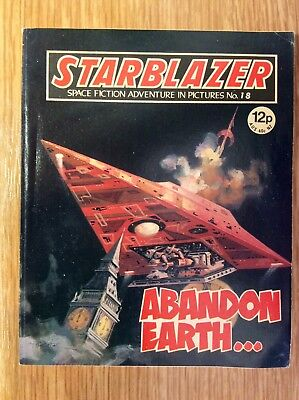 Starblazer: Issue no 18  -  UK Science Fiction Comic  -  Excellent Condition