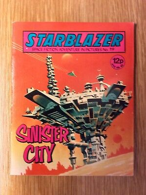 Starblazer: Issue no 19  -  UK Science Fiction Comic  -  Excellent Condition