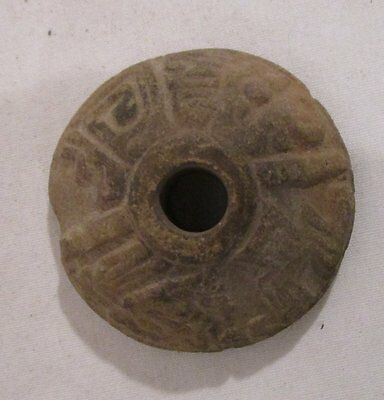ANTIQUE 900-1500 AD  Pre-Columbian malacates Spindle Whorl #1