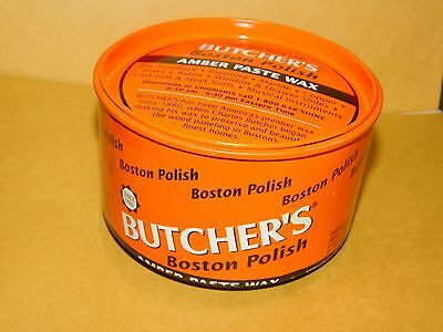 New Old Stock 1 Lb Can Butchers Boston Polish Amber Paste Wax Furniture Metal