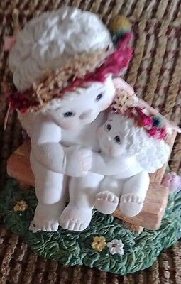"2003 Very Nice App 4"" Dreamsicles Sharing A Moment Figuine Friends Angels Cherub"