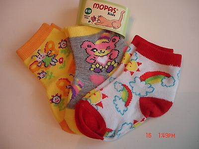 3 PRS OF Baby girl LOW CUT SOCKS 0-12 months