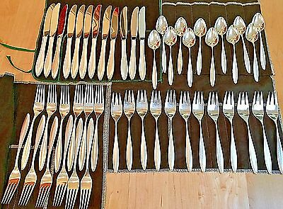 Towle Modern  Midcentury Sterling  Flatware, RSVP Pattern, Service for 12