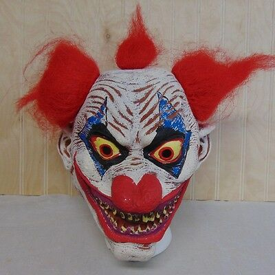 Scary Clown Halloween Mask Latex Adult Red Hair Haunted House Halloween Party