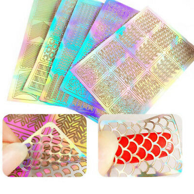3Sheet Lot Nail Art Transfer Stickers Decal 3D Design Manicure Tips Decor Tool