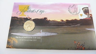 Australia: 2011 Golf Presidents Cup $1 PNC,  Stamp & Coin Cover