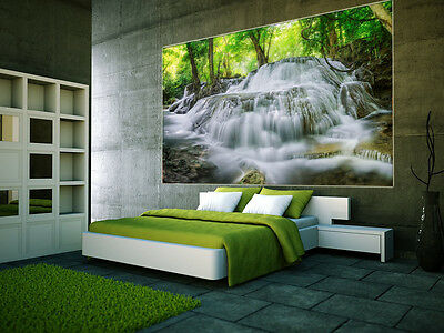 Prepasted Mural Wallpaper Wallcovering Forest Waterfall