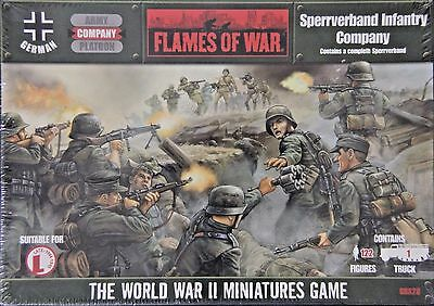 Flames of War GBX28: Sperrverband Infantry Company (122 Figures, 1 Truck)