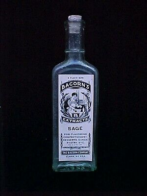 Antique Bottle: Bacorn's B Extracts Sage Pb125