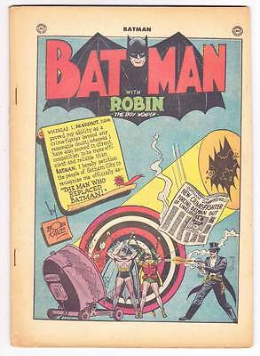 coverless BATMAN #59 - Golden Age 1950 comic - 1st Deadshot, Joker in the future