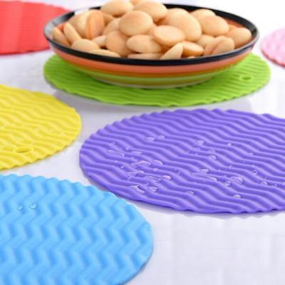 Silicone Trivet Table Heat Resistant Mat Cup Coaster Cushion Placemat Pad B