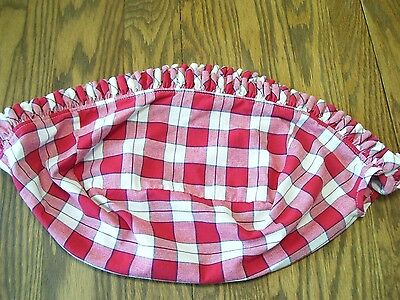 LONGABERGER Stand Up LINER for PIE Basket, Red Plaid, VG Used!