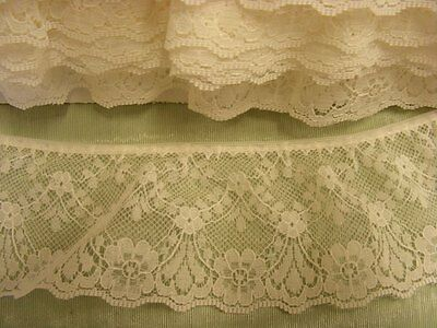 Gathered Cream  Lace 10 metres  (48545)