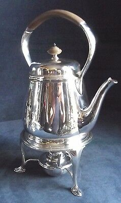 SUPERB Aesthetic ~ SILVER Plated ~ HARRODS ~ Spirit KETTLE on Stand ~ c1890