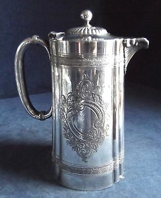 SUPERB ~ SILVER Plated ~ FLUTED Juice / Water JUG ~ c1900 by James Dixon