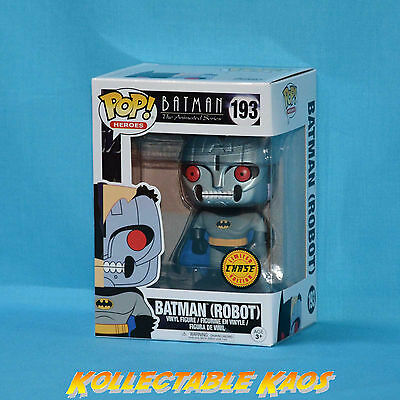 Batman: The Animated Series - Robot Bat Pop! Vinyl Figure - Chase Version