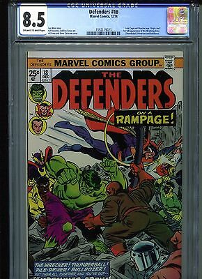 Defenders #18 CGC 8.5 (1974) Origin & 1st First Full Wrecking Crew Appearance