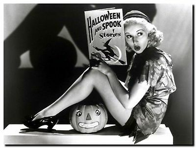 "BETTY GRABLE HALLOWEEN vintage pinup CANVAS ART PRINT poster 8""X 10"""