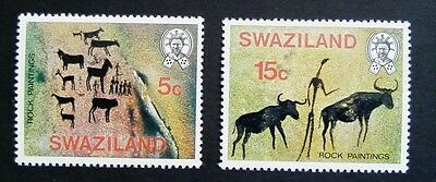Swaziland Rock Paintings 5c 15c MNH