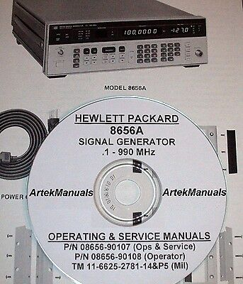 Hewlett Packard Ops & Service Manuals 2-volume for the 8656A RF Signal Generator