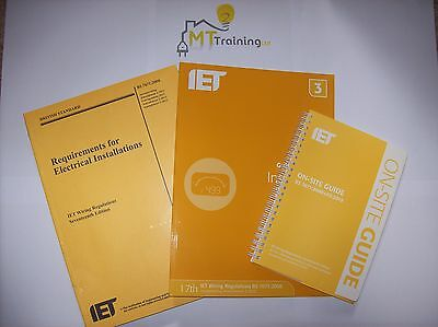 17th Edition 3rd Amendment IET BS7671, GUIDANCE NOTE 3, ON-SITE GUIDE & MOCKS