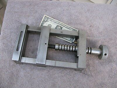 """USA toolmaker made large machinist vise opens to 5 3/8""""  tool"""