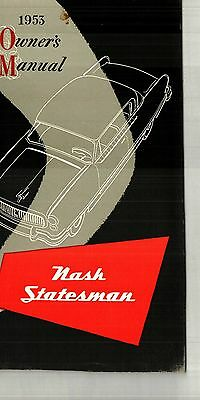 1953 Nash Statesman Owner's Manual - Nos  New Old Stock