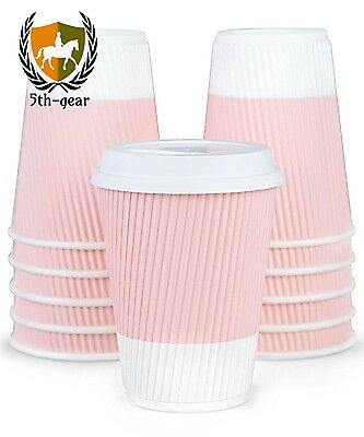 Premium Disposable Coffee Cups With Lids - (90) Durable 12 oz To Go Tight...