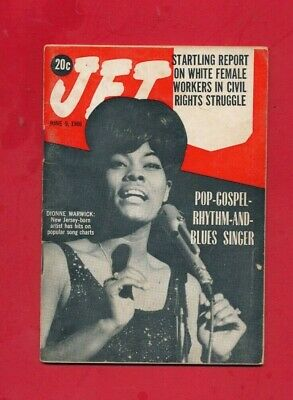 JET MAGAZINE 6/9/1966 Dionne Warwick 1st Cover White workers civil rights fight