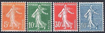 FRANCE ANNEE COMPLETE 1921 YVERT 158/161 , 4 TIMBRES SEMEUSE NEUFS xx LUXE M891D