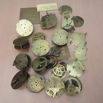 Joblot Of Various Clock Movement Plates For Spares