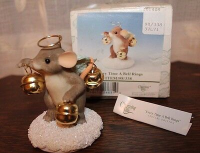 Charming Tails Every Time A Bell Rings Special Edition Christmas Figurine 98/338