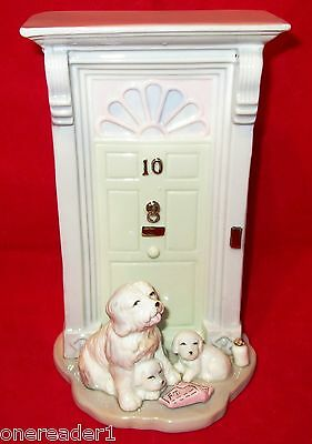 """HOME BUDDIES By Simson Giftware Old English Sheepdog at Front Door 7""""H Figurine"""