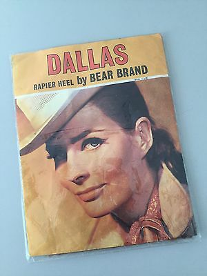 Deadstock Vintage 60s Dallas By Bear Brand Rapier Heel Bri Nylon Stockings