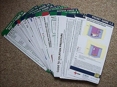 ELECTRICIANS POCKET GUIDES x 39 ECA HANDY REFERENCE CARDS AMENDMENT 3 of BS7671