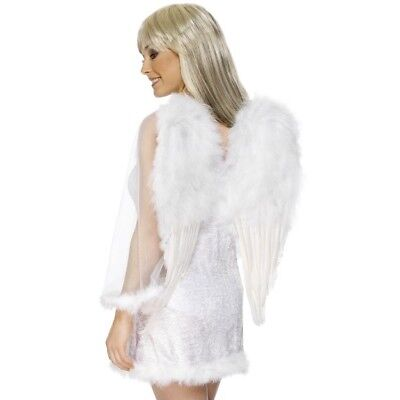 Large White Angel Wings 50x60cm Feather Fancy Dress Accessory