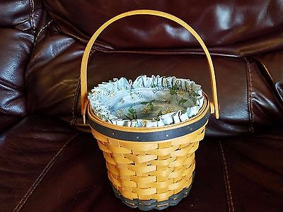 Longaberger May Daisy Basket/Liner/Protector -1999