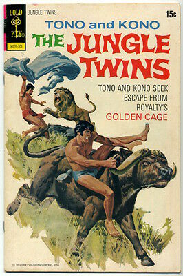 THE JUNGLE TWINS #5 April 1973 Gold Key FN/VF