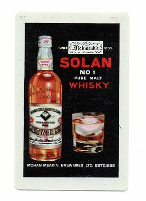 Vintage Mohan Meakin Brewery, Solan, India Solan Malt Whiskey Playing Card