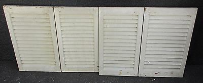 """SET ANTIQUE PAINTED PINE LOUVERED INTERIOR WINDOW SHUTTERS  44 3/4"""" x 18""""    C"""