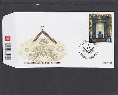 Belgium 2008 Freemasonry  First Day Cover FDC Petit-Rechan special h/s