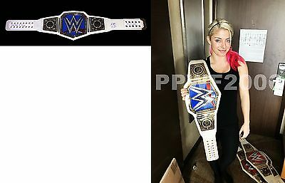 Wwe Alexa Bliss Autographed Smackdown Commemorative Womens Belt With Exact Proof
