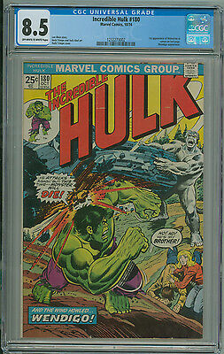 Incredible Hulk #180 CGC 8.5 1st App Wolverine Cameo Marvel 1974