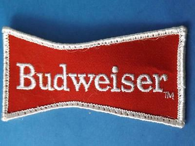 Budweiser Beer Vintage Patch Bow Tie Racing Advertising Brewery Collector