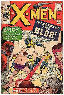 """X-MEN #7 - """"The Return Of The Blob!"""" VERY GOOD Condition"""