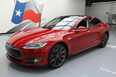 2014 Tesla Model S  2014 TESLA MODEL S 85 PANO ROOF NAV REAR CAM 21'S 40K #P30229 Texas Direct Auto