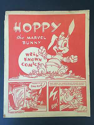 Vintage 1944 Hoppy The Marvel Bunny Well Known Comics Bestmaid Promotional Issue