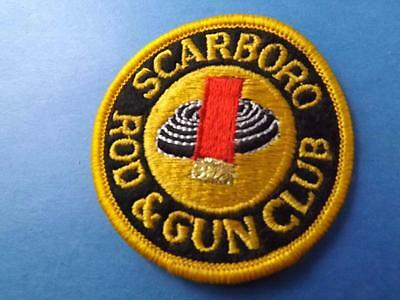 Scarboro Rod & Gun Club Patch Vintage Fishing Hunting Shell Target Collector