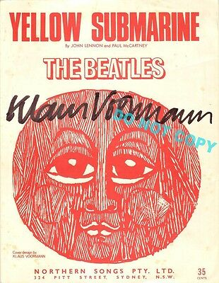 REPRINT RP 8x10 Signed Photo: KLAUS VOORMANN The Beatles Yellow Submarine